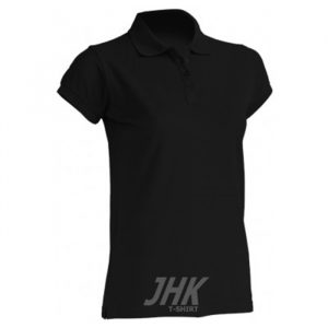 Ženska polo majica kratkih rukava, crna