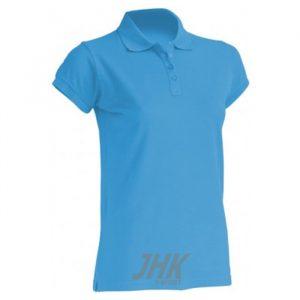 Ženska polo majica kratkih rukava, svjetlo plava