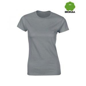 Ženska majica kratki rukav BROKULA NERETVA, siva