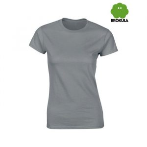 Ženska majica kratki rukav BROKULA KRKA, siva
