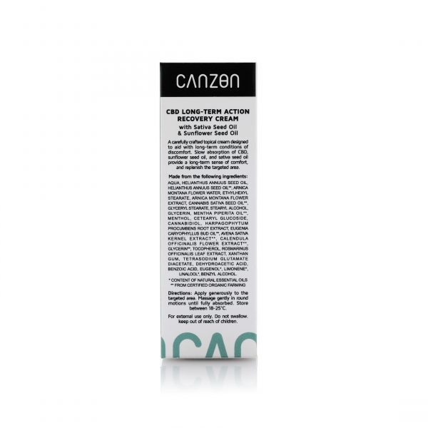 canzon 258 Long Term Action Recovery Cream Box Back